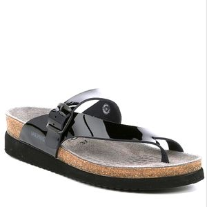 Mephisto Helen Patent Leather Thong Slide Sandals